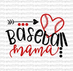 Baseball mama svg eps dxf png cricut cameo scan N by JMGraphicsCO Baseball Crafts, Baseball Mom Shirts, Softball Mom, Sports Shirts, Baseball Stuff, Baseball Gear, Baseball Equipment, Mom Of Boys Shirt, Team Mom