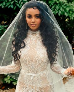 She is the MOST beautiful Bride on Earth. For see more of fitness Freaks visit us on our website ! Beautiful Bride, Most Beautiful, Beautiful Women, Vanessa Morgan, Black Girl Magic, Actresses, Wedding Dresses, Lace, Beauty