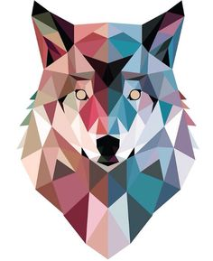 Geo wolf t-shirt paint swatch art, paint swatches, cute wallpapers, wallpap Wolf Canvas, Canvas Art, Paint Swatch Art, Paint Swatches, Removable Wall Murals, Geometric Graphic, Geometric Shapes, Graphic Art, Art Moderne