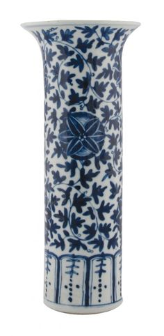 Chinese Qing period blue and white vase