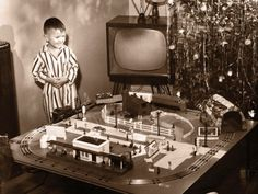 What little boy didn't ask Santa for a train set?!