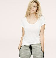 Lou & Grey Signature Tee - Introducing a new line of easy, texture-rich pieces for your every day. From the unbelievably soft fabric, to the flattering body-skimming fit and spot-on proportions, our designer scrutinized over every detail to create this absolute favorite. Scoop neck. Short sleeves. Shirttail hem.
