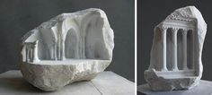 Sculptor Carves Realistic Architectural Sculptures Into Marble And Stone | DeMilked