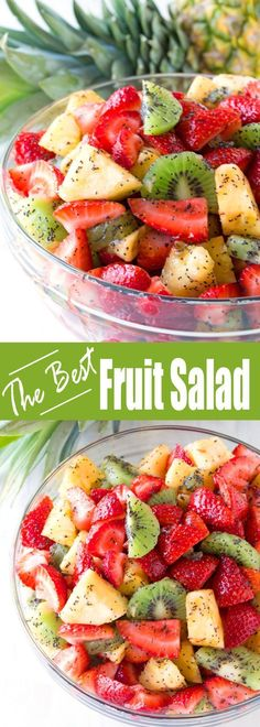 This winning combination of fruits drizzled with a lemon poppy seed dressing make up the best fruit salad you'll ever have. This winning combination of fruits drizzled with a lemon poppy seed dressing make up the best fruit salad you'll ever have. Best Fruit Salad, Summer Salads With Fruit, Fruit Salad Recipes, Jello Salads, Poppy Seed Fruit Salad, Best Salad Recipes, Healthy Salads, Healthy Eating, Fruit Snacks