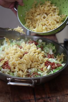 Hungarian Cabbage and Noodles - Aftertaste by by Cabbage Recipes, Pasta Recipes, New Recipes, Cooking Recipes, Favorite Recipes, Healthy Recipes, Recipies, Serbian Recipes, Hungarian Recipes