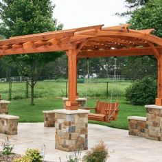 The pergola kits are the easiest and quickest way to build a garden pergola. There are lots of do it yourself pergola kits available to you so that anyone could easily put them together to construct a new structure at their backyard. Vinyl Pergola, Garage Pergola, Building A Pergola, Pergola Canopy, Pergola Swing, Metal Pergola, Deck With Pergola, Cheap Pergola, Covered Pergola