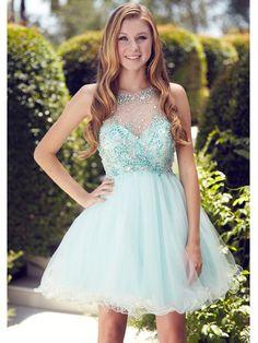 Illusion Yoke Short Prom Dress   Sung Boutique L.A.