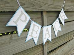 Peace Banner  Photo Prop and Christmas Decoration  by craftyearth $10.00