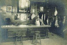 Charles Benjamin when he worked for Sonny & Eli Thompson in Norwalk, CA (calendar on wall looks like November, 1887)