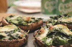 Met spinazie gevulde portobello's uit de oven - Culy.nl