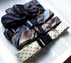 Necktie dog collars
