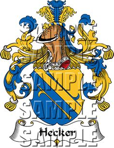 Hecker Family Crest apparel, Hecker Coat of Arms gifts