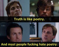 - The Big Short 2015  Brad Pitt Christian Bale Ryan Gosling Steve Carell