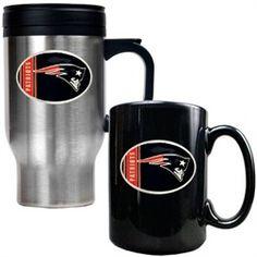 New England Patriots Coffee Cup & Travel Mug Gift Set