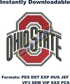 ohio state buckeyes logo embroidery designs Embroidery Designs Online, Types Of Embroidery, Machine Embroidery Patterns, Custom Embroidery, Ohio State Buckeyes, Painting Metal Cabinets, Ohio State Wallpaper, New York Mets Logo, White Sox Logo