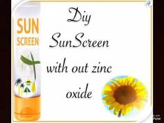 Sunscreen without zinc oxide protects you from sun damages. Aloe Sunscreen, Homemade Sunscreen, Beauty Care, Diy Beauty, Beauty Hacks, Clear Skin Face, Face Skin, Aloe Vera Gel, Remedies