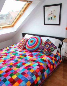 Mantas en crochet todas las medidas y colores - Manga, Uruguay - Otros Artículos