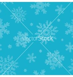 Blue lace snowflakes textile seamless pattern vector by Oksancia on VectorStock®