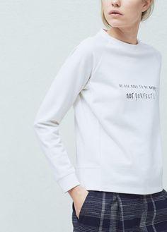 Sudadera mensaje algodón   MNG