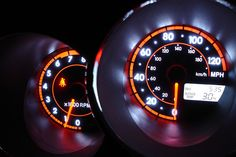 Dashboard lights by dawnhops, via Flickr