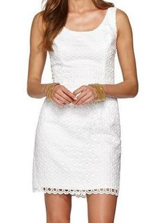 Lilly Pulitzer Meredith Scoop Neck Sheath Dress