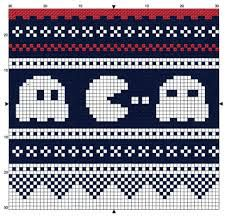Pacman - free pattern for cross stitch or hama beads or KNITTING! Cross Stitch Borders, Cross Stitching, Cross Stitch Embroidery, Cross Stitch Patterns, Knitting Charts, Knitting Stitches, Knitting Patterns, Crochet Patterns, Sock Knitting