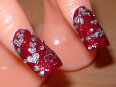 i love you nail designs - Google Search