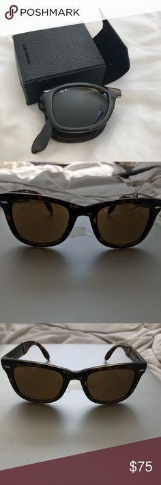 Rayban wayfarer Foldable Ray-ban wayfarer sunglasses. Come with original case. In great condition. Ray-Ban Accessories Sunglasses