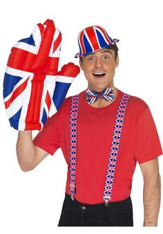 Inflatable Great Britain Union Jack Blow-Up Hand Royal Wedding Fancy Dress Bears Game, Jester Hat, Cultural Events, Water Toys, Union Jack, British Style, Red White Blue, Great Britain, Fancy Dress