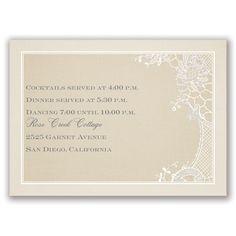 Subtle Elegance - Real Glitter Reception Card at Invitations By Dawn