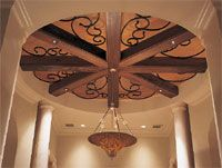 Circular Foyer Ceiling Detail
