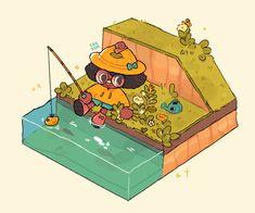 Animal Crossing Fan Art, Animal Crossing Pocket Camp, Character Design Animation, Character Art, Pretty Art, Cute Art, Relaxing Art, Dibujos Cute, Fanart