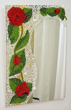 marcos espejos vitrofusion - Buscar con Google Mosaic Tile Art, Mosaic Artwork, Mirror Mosaic, Mosaic Diy, Mosaic Garden, Mosaic Crafts, Mirror Art, Mosaic Projects, Mosaic Glass