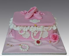 Pink Jewelry ballet box Cake ~ love!