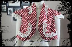 Bolero Cropped Jacket Size US 8 by myprettybabi @Etsy @Meylah Marketplace #handmade #crochet #women'sfashion