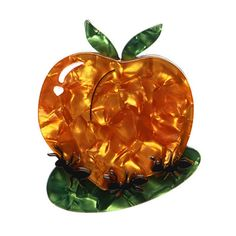 What would a picnic be without a few of Georgia's finest? This ones not so giant, unless you ask the ants that is. - Online Store Powered by Storenvy Things That Go Together, Quirky Gifts, Just Peachy, Best Fruits, Acrylic Resin, Resin Jewelry, Jewlery, Whimsical, Pin Up