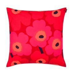Marimekko Unikko Red/Red Throw Pillow $41.00