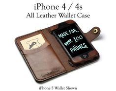 iPhone 4/4s Leather Wallet Case iphone 4 case iphone 4s