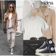 1867. Blogger Style: Sincerely, Jules by chocolatepumma on Polyvore featuring polyvore, fashion, style, MANGO, Moncler, Converse, Balenciaga, The Row and Oris