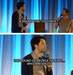 Misha Collins, everyone. I feel like we would get along well.