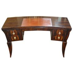 French Art Deco Desk in Macassar Inspired By Emile Jacques Ruhlmann