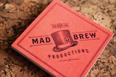 Brand identity created by Adam Hill for Mad Brew Productions, a live music event company.  Traveling Victorian salesmanconcept.
