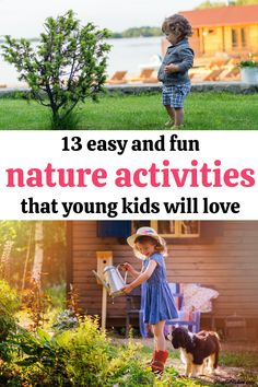 Discover 13 easy and fun nature activities for kids that little ones will love!  - Children activities Preschool Activities At Home, Nature Activities, Indoor Activities For Kids, Kids Learning Activities, Fun Crafts For Kids, Infant Activities, Teaching Kids, Parenting Toddlers, Good Parenting