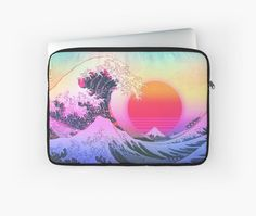 Great Wave Vaporwave Aesthetic. Retro 80s Design. • Millions of unique designs by independent artists. Find your thing. 80s Design, Canvas Prints, Art Prints, Retro Aesthetic, Vaporwave, Laptop Sleeves, Finding Yourself, Classic T Shirts, Artists