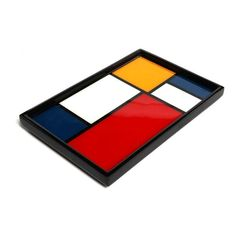 Piet Mondrian Limited Edition Art Vanity Perfume Tray $99 one of over 3,000 limited production interior design inspirations inc, furniture, lighting, mirrors, tabletop accents and gift ideas to enjoy repin and share at InStyle Decor Beverly Hills Hollywood Luxury Home Decor enjoy & happy pinning