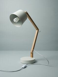 White/Grey Angle Table Lamp 2.0 - Douglas + Bec — Designspiration