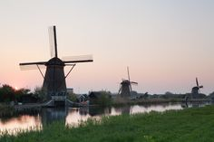 Kinderdijk is a Unesco World Heritage Site in The Netherlands, famous for its windmills