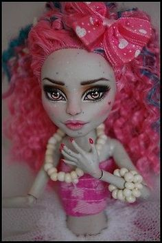 """OOAK art doll Monster High repaint and custom """"Cotton Candy"""" by Alex"""
