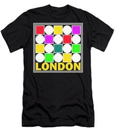 London Men's T-Shirt (Athletic Fit) featuring the digital art 7580 London by Otis Porritt