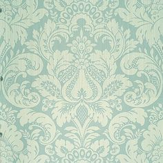 The House of Scalamandre Daphne Damask L x W Wallpaper Roll (Set of Color: Swedish Blue Aqua Wallpaper, Luxury Wallpaper, Blue Wallpapers, Wallpaper Roll, Pattern Wallpaper, Bedroom Wallpaper, Where To Buy Wallpaper, Classic Wallpaper, Damask